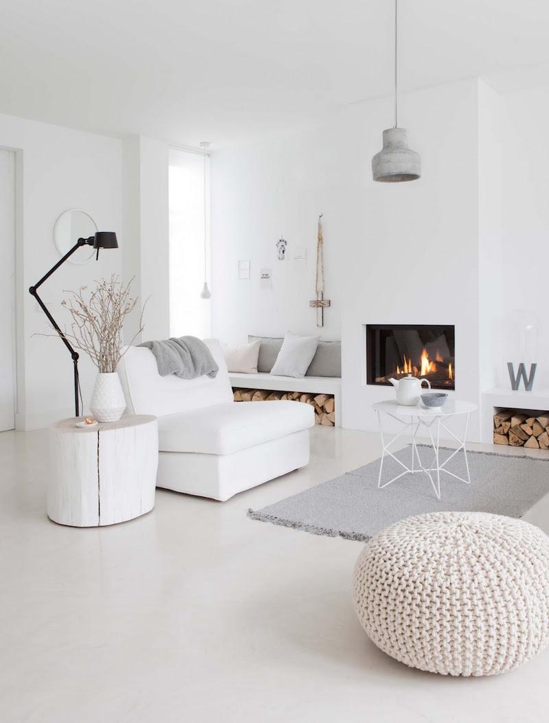 Scandinavian neutrals living room via Norm Architects