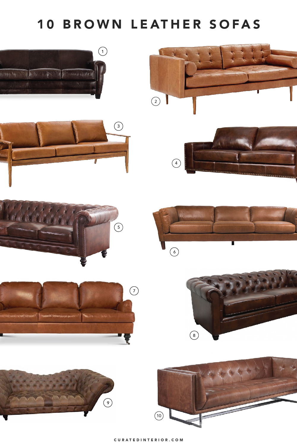 Top Brown Leather Sofas