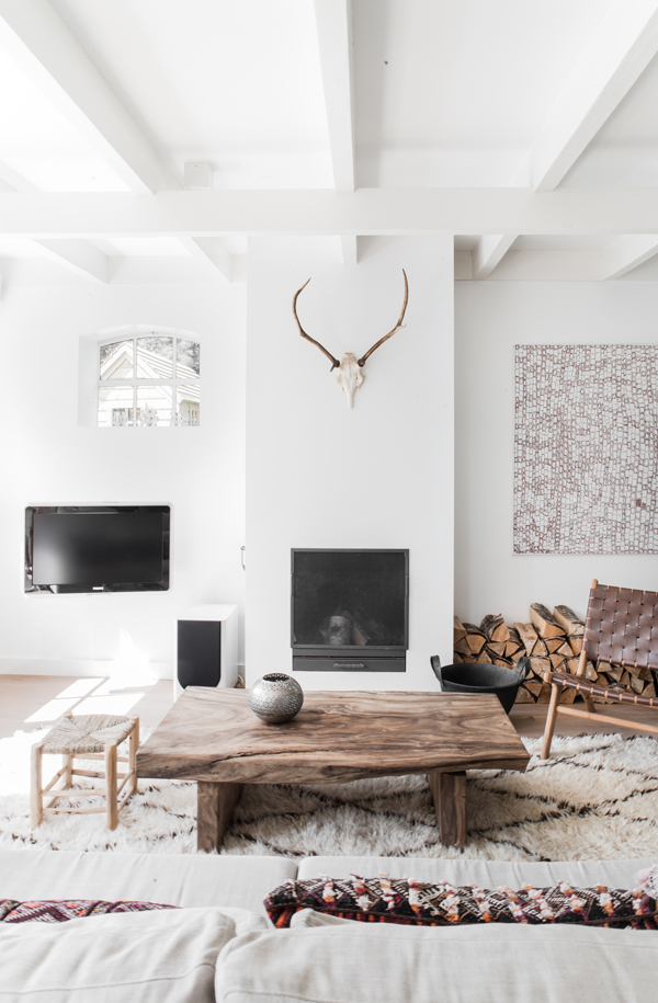White moroccan living room via Style-Files