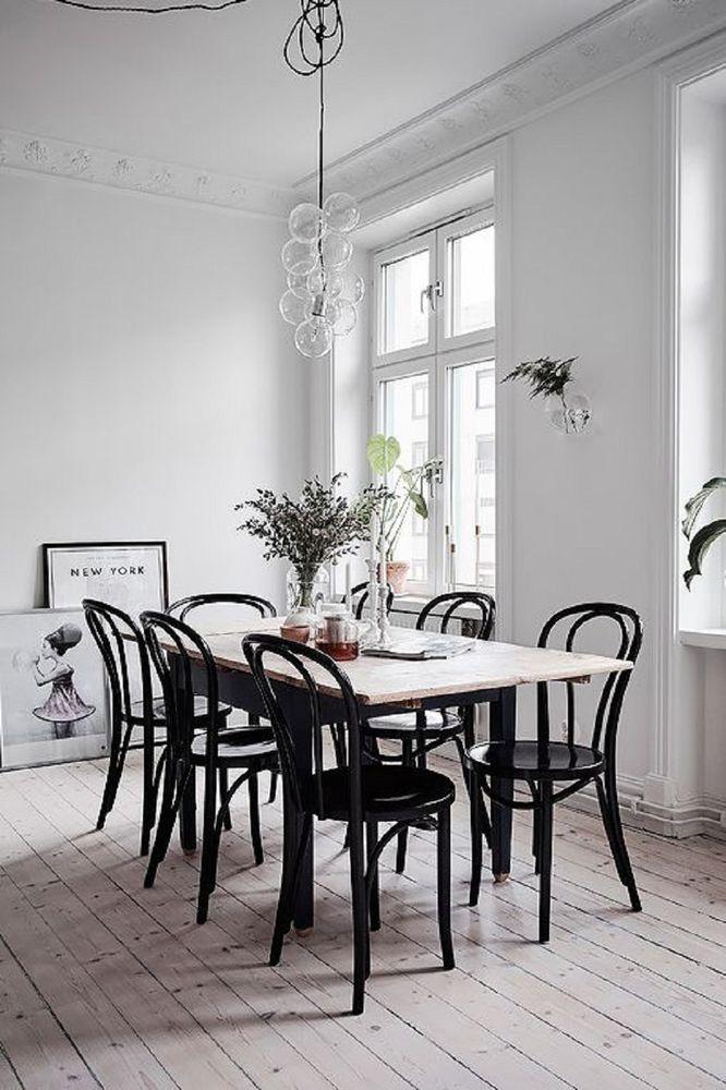 Black bentwood chair scandinavian home