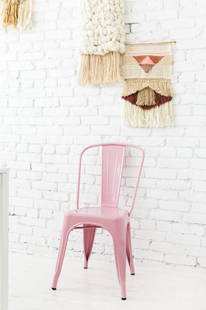 Blush pink tolix chair via Design Love Fest and @maryannemoodie