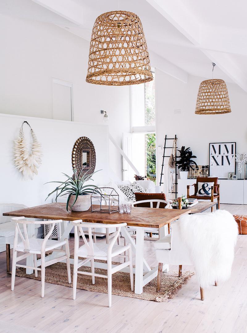 Bohemian dining room Australia