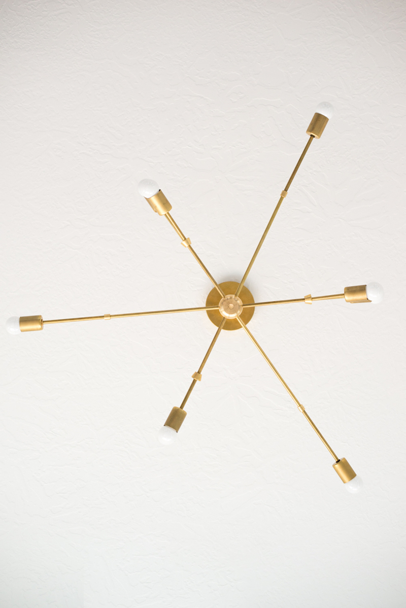 Brass branch ceiling lighting