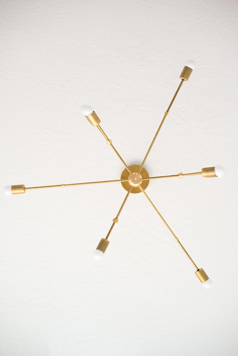 Brass branch ceiling lighting