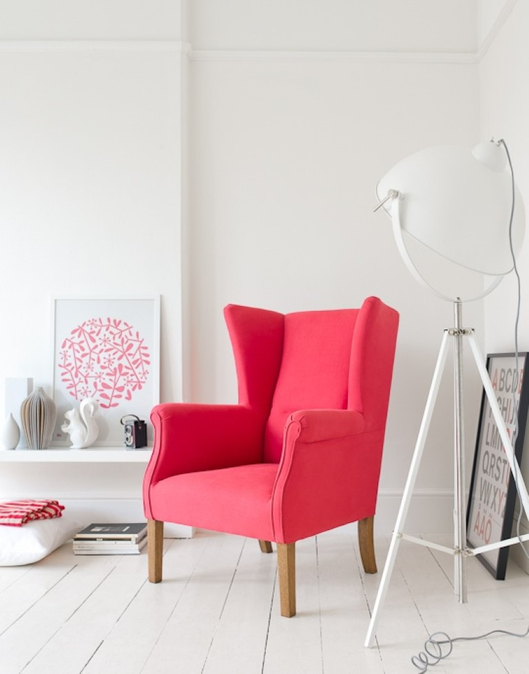 Coral Wingback Chair