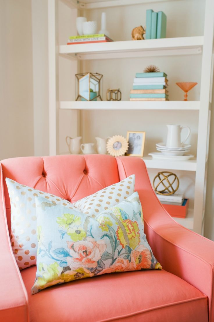 Coral living room chair via SMP