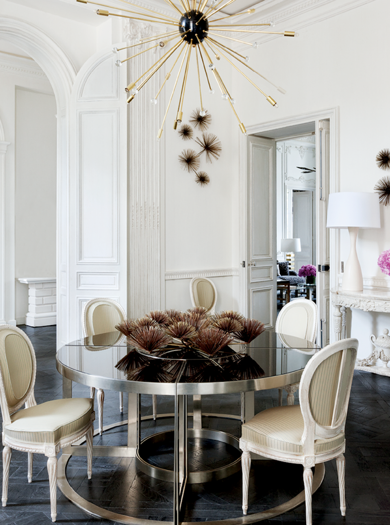Lauren Santo Domingo's Paris Dining Room via Vogue ES