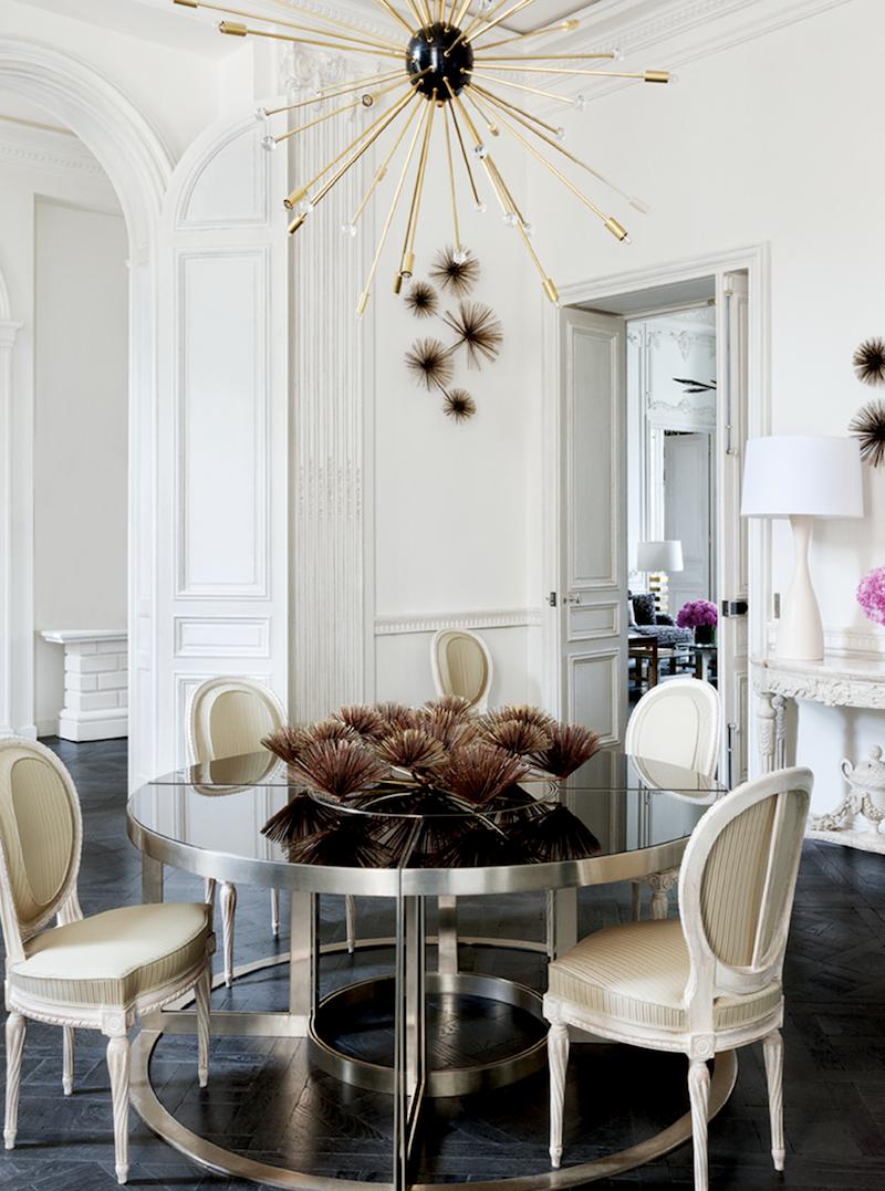 Lauren Santo Domingo's Paris Dining Room via Vogue ES
