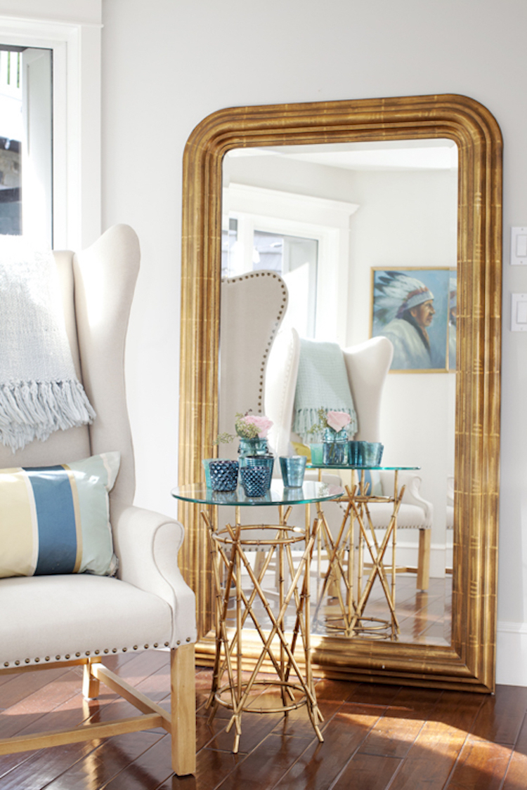 Off-white wingback chair via Jillian Harris
