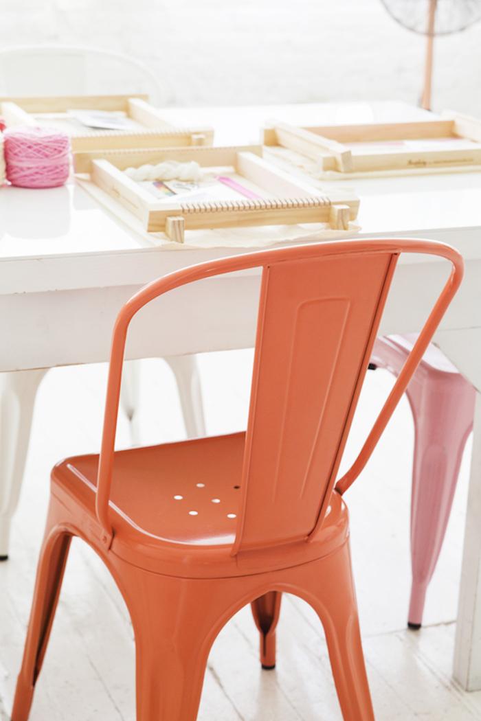 Orange tolix chair via DLF