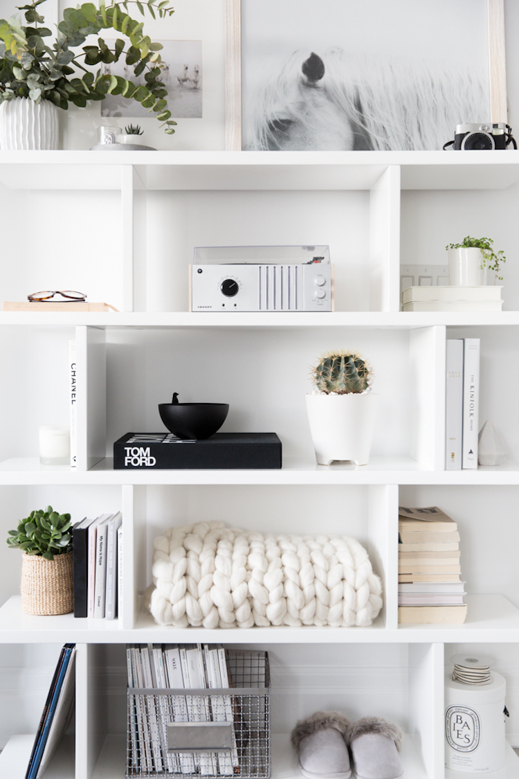White box shelving minimal home