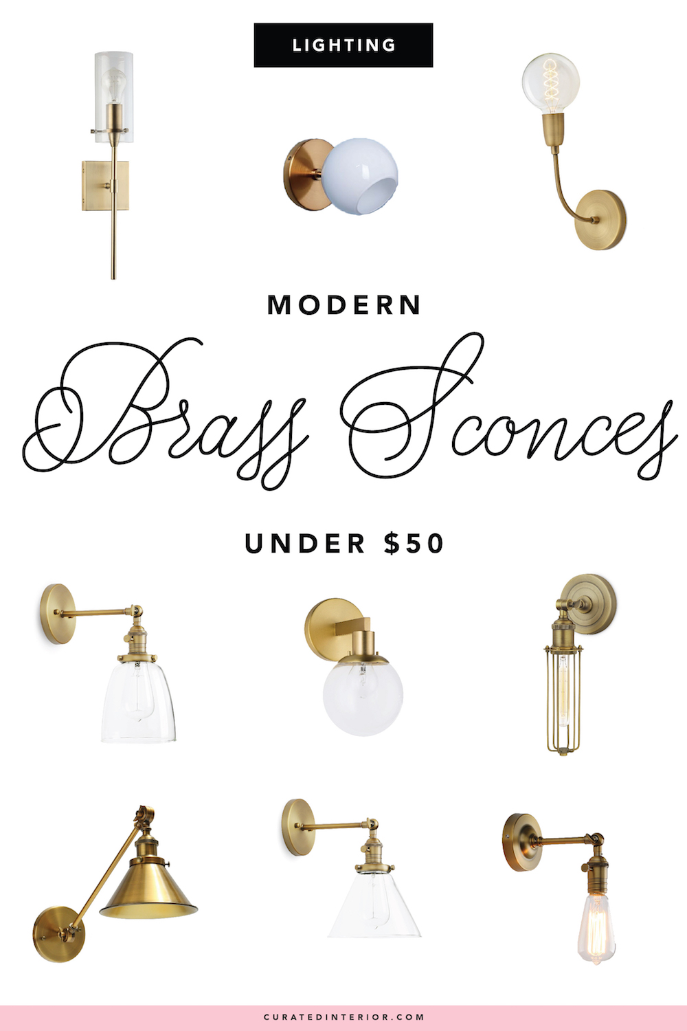 Affordable Brass Sconces Under $50