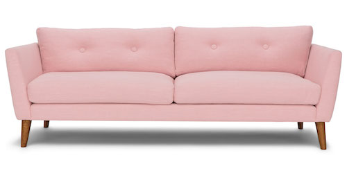 Article Emil Sofa in Blush Pink