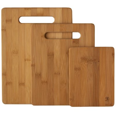 Bamboo 3 Piece Bamboo Cutting Board Set