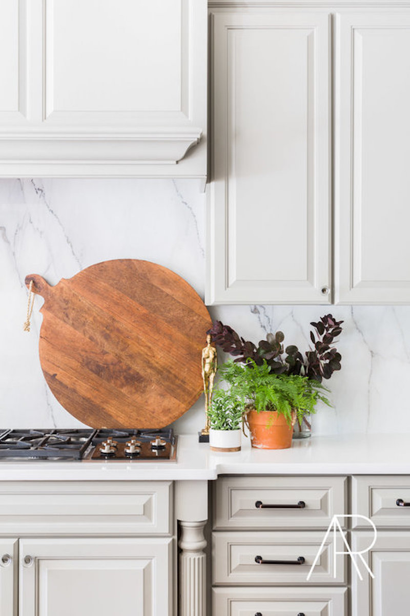 Big round wooden cutting board via Alyssa Rosenheck and SMP Living