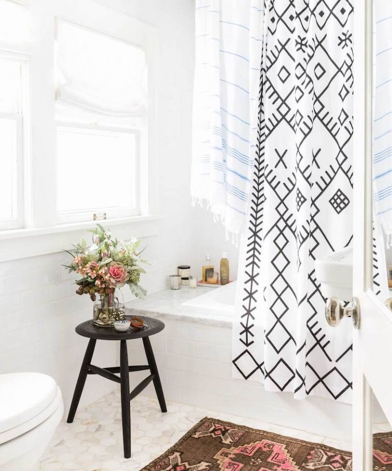 beautiful shower curtains. i was so surprised the other day when a quick search for shower curtains on amazon yielded most horrid of results. beautiful curated interior