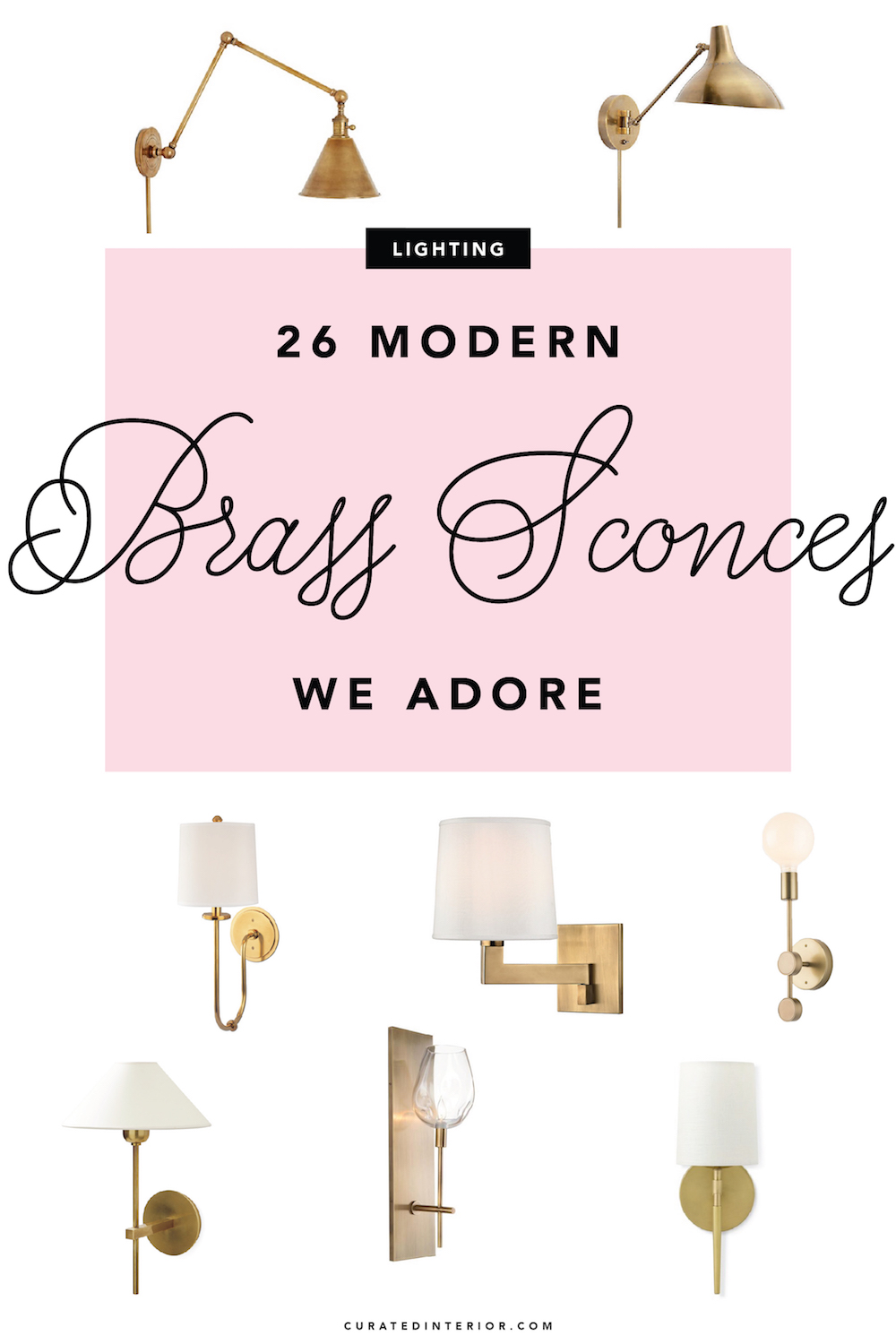 Modern Brass Sconces We Adore