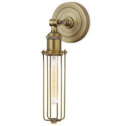 Brooklyn Bulb Co. Aged Brass 1-Light Sconce $57