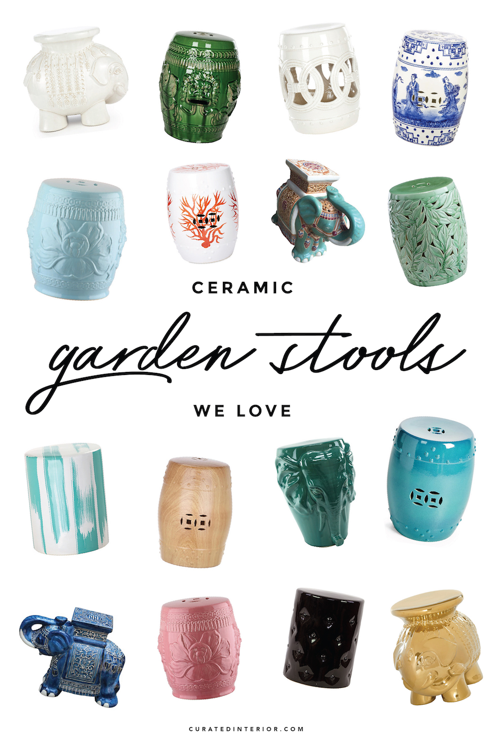 30 Gorgeous Ceramic Garden Stools For Summer
