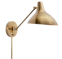 Charlton Sconce, Antiqued Brass $419