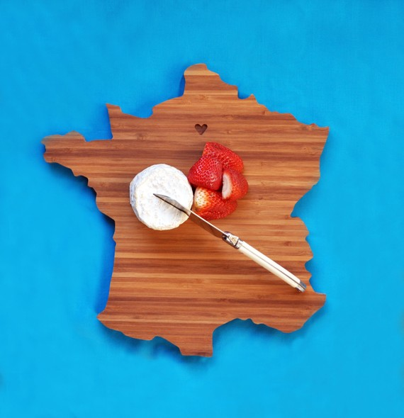 France Shaped Cutting Board