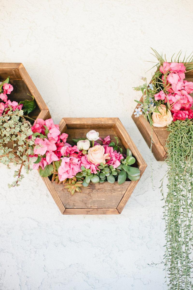 Hanging floral garden
