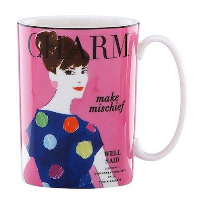 Kate Spade x Lenox Make Headlines Make Mischief Mug