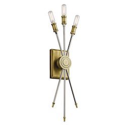 Kichler Lighting Doncaster Collection 3-light Natural Brass Wall Sconce $159