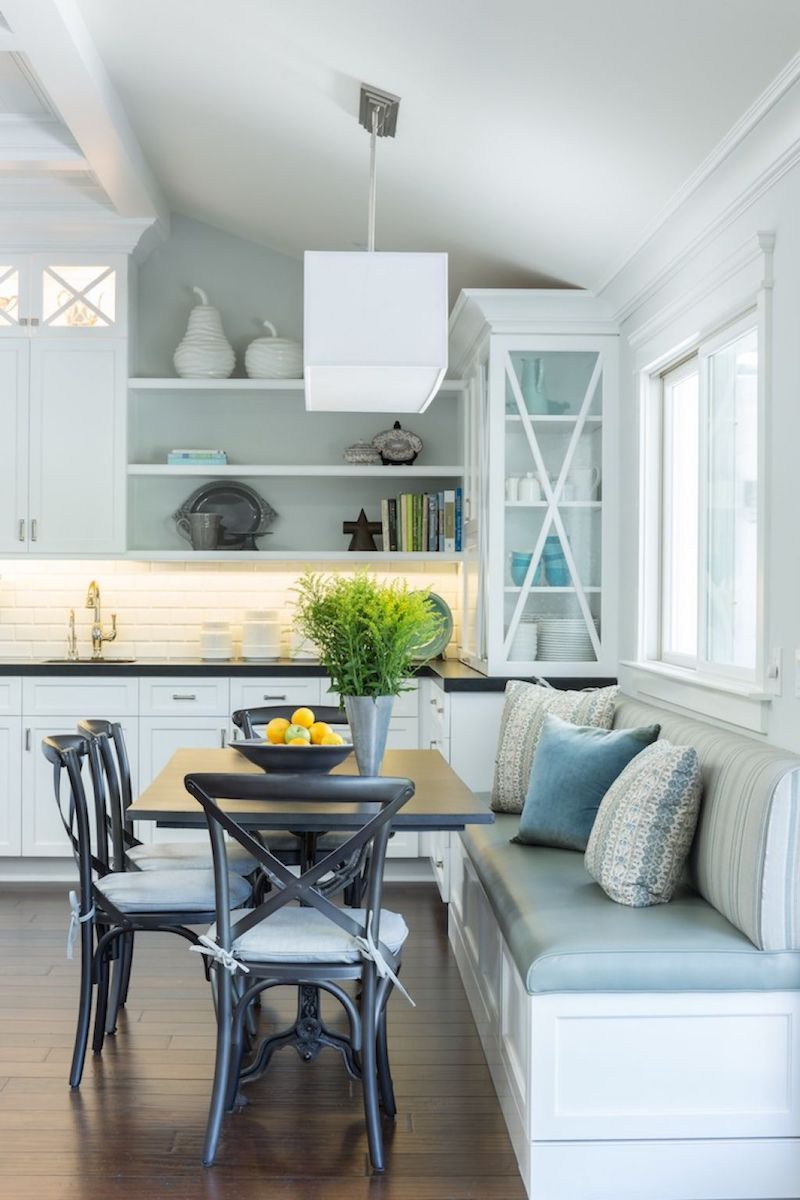 Kitchen With Black Cross Back Chairs