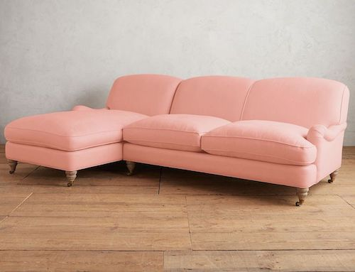 Linen Glenlee Left Sectional, Wilcox by Anthropologie