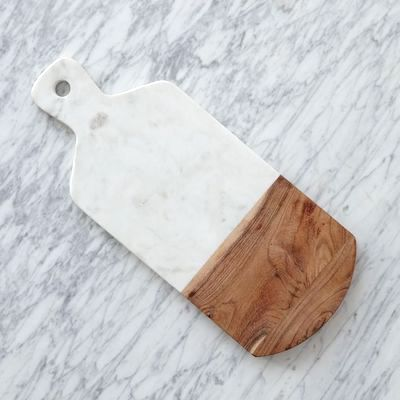 Marble + Wood Cutting Board - Rectangle