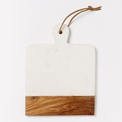 Marble + Wood Cutting Board - Square