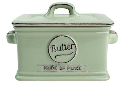 Old Green Butter Dish