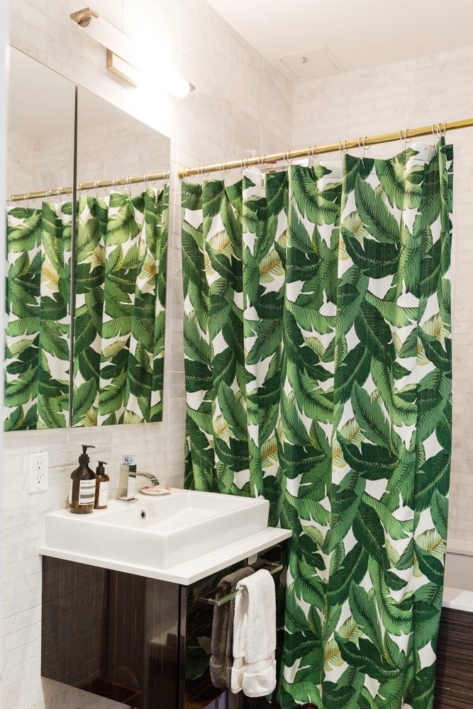 Palm tree shower curtain via Apt Therapy