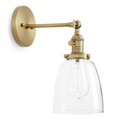 Permo Industrial Vintage Single Sconce With Oval Glass $50