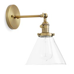 Permo Single Sconce with Funnel Flared Glass $50