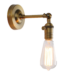 Permo Vintage Industrial Pole Wall Mount Mini Single Sconce $30