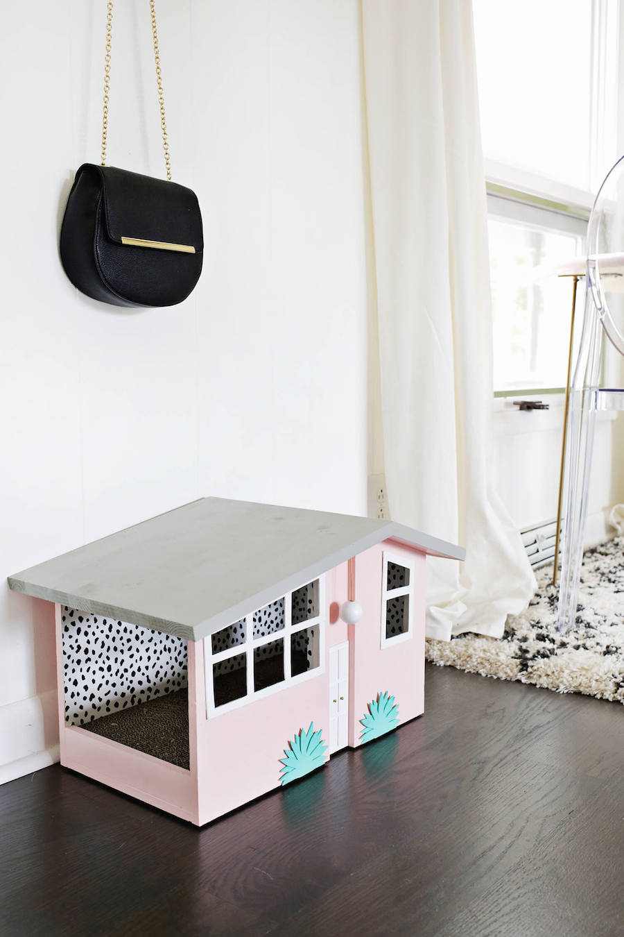 Pink cat house