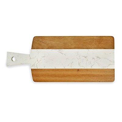 Plain Marble Stripe & Wood Board