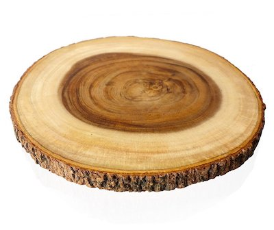 RoRo Hand Crafted End Grain Cutting Board with Bark Made From Sustainable Wood