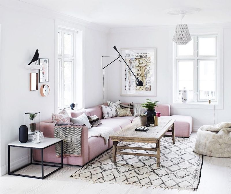 16 Chic Blush Pink Sofas Amp How To Style Them