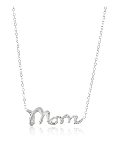 Silver Mom Pendant Necklace
