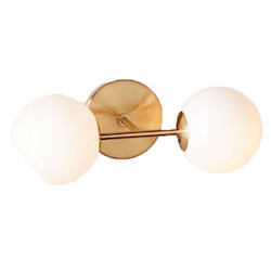 Staggered Glass Sconce - Double $99