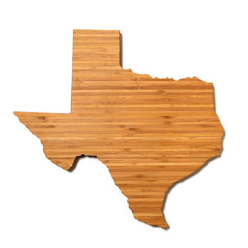 Texas shaped cutting board
