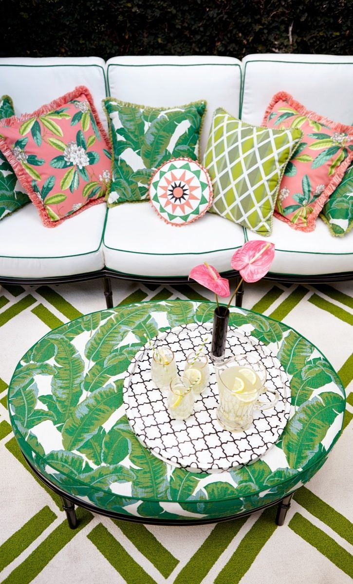 Tropical decor table