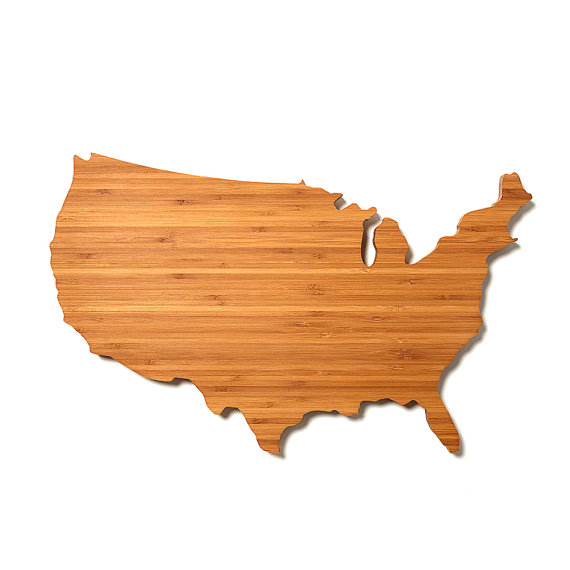 USA Shaped Cutting Board