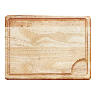 Wooden Carving Board with Well