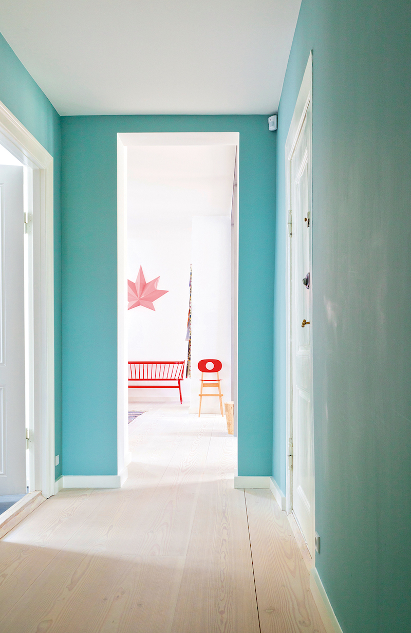 This colorful copenhagen apartment is actually a gallery for Pictures for hallway walls