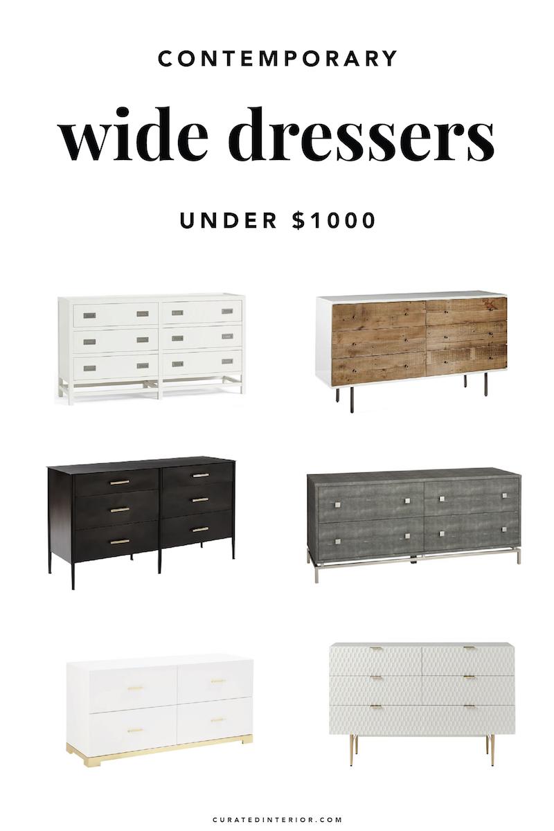 Best Wide Dressers Under $1000