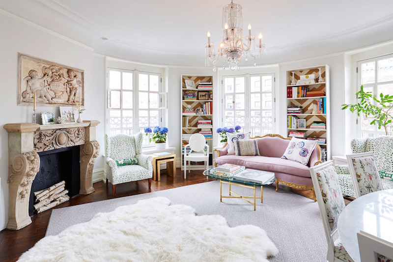 French inspired living room in NYC
